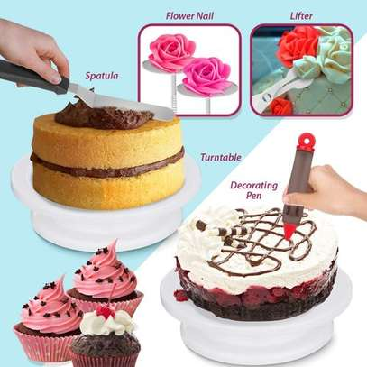 206 Pcs/set Cake Turntable Piping Tip Nozzle Pastry Bag Set image 6