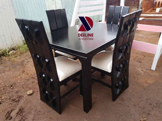 Black 4 Seater Dining Table sets