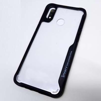 IPAKY Hybrid Shockproof Transparent Case for Samsung M30 M20 M10 image 1
