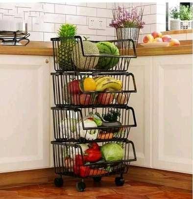 Metallic 4 tier vegetable rack image 2