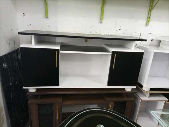 tv stand 606j (black and white) image 1