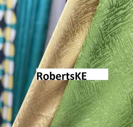 green linen curtains image 1