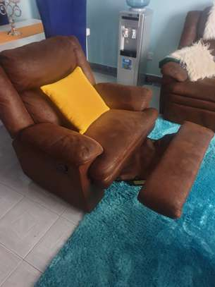 Recliners seats and dinning table