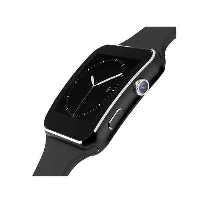 X6-Smart Watch Phone MTK6260 Camera-water resistant-Black image 1