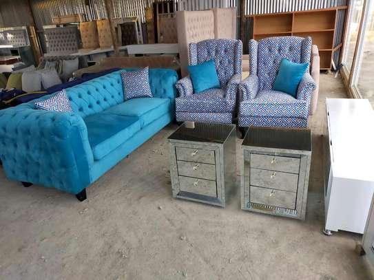 sofas/chesterfield sofas/three seater sofa/one seater sofa/complete set of sofas image 1