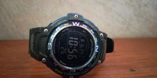 Compass/Temperature army wrist watch.