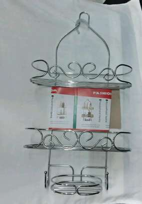 Stainless steel shower caddy image 1