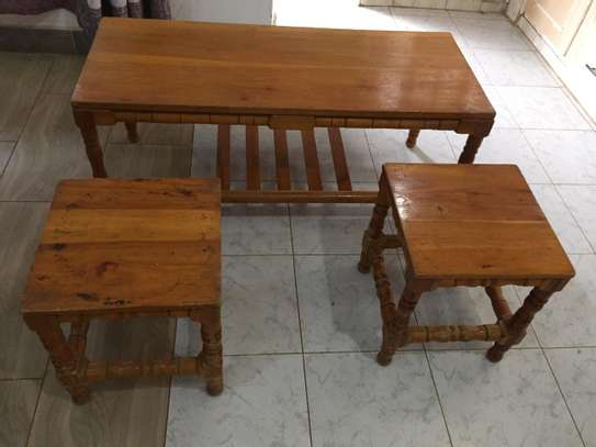 Table with 2 side tables - QUICK SALE image 3