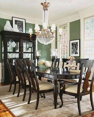 Eight seater dining table/modern Mahogany Dining set image 1
