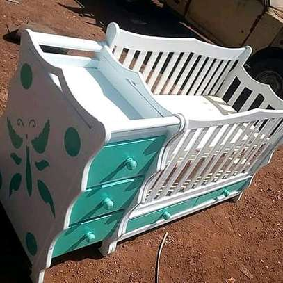 Baby cot with mattress and net and get a free delivery image 2