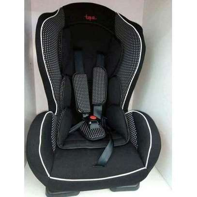 Portable Baby Car Seat - For 0-30Kgs( black with white polka dots) image 1