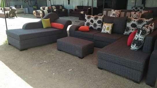 L shape + sofabed image 1