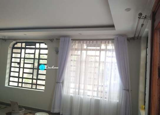 white custom made curtains image 1