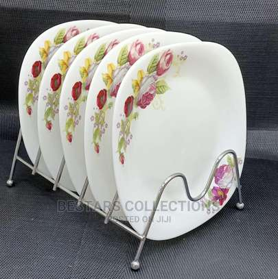 8.5'' Flat Square Side Plates 6pieces image 1