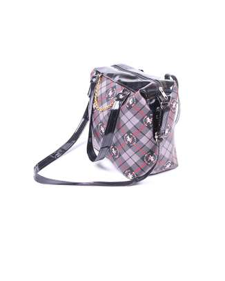 Sling bag with chain and zipper closure image 2