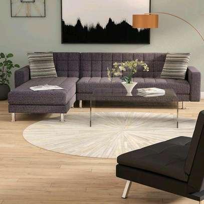 Five seater grey L shaped sofas for sale in Nairobi Kenya/Livingroom sofa ideas/Furniture stores in Nairobi Kenya image 1