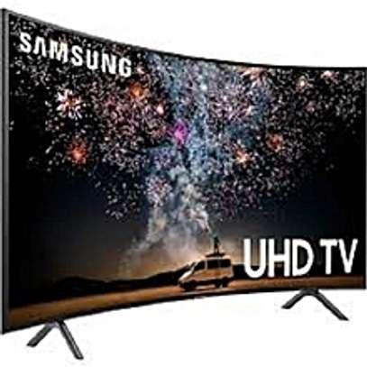 Samsung 55'' 4K ULTRA HD SMART CURVED TV, HDR, NETFLIX TU8300 SERIES-Black image 1