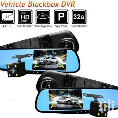 4.3 Inch Dual Lens Car Video Recorder Rearview Camera image 1