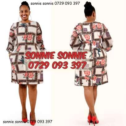 Floral shift dress image 1