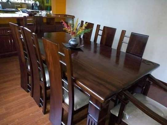 6-seater wooden dining set image 1