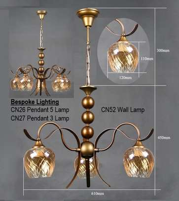 Décor Lighting - CN26 - 5 Lamp & CN27 - 3 Lamp Chandeliers with CN52 - Wall Lamps