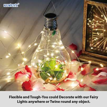 The fairy light is quite flexible and bound with a round transparent special spool. image 1