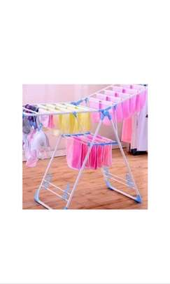 Foldable clothes drying rack. image 2