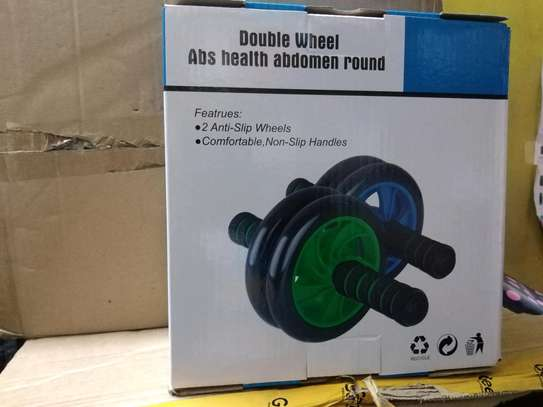 AB Wheel Double wheel Fitness Abs Roller with FREE mat image 3