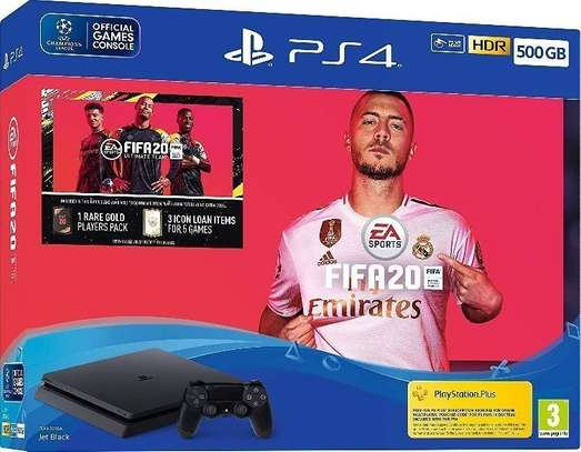 Ps4 500gb with fifa 20bundle image 1
