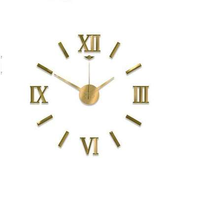 Roman Design 3D Wall clock- Black, Green or Gold image 2