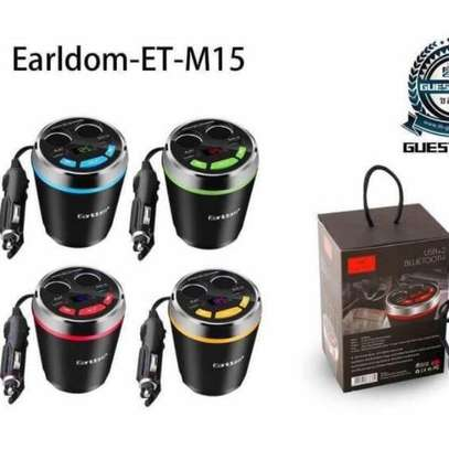 Earldom ET-M15 Smart Current Demitasse USB and Cigarette Car Charger With USB/Bluetooth Player and FM Transmitter image 2