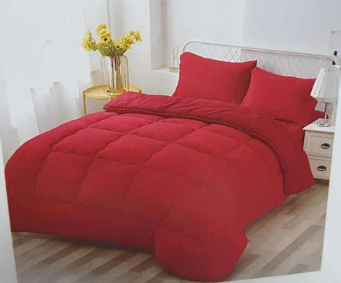 Woollen duvet plain colour with 1bedsheet n 2pillowcases 6 by 6 image 5