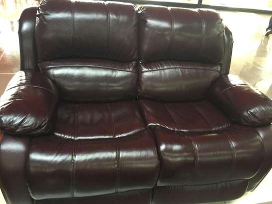2 Seater Leather Recliner Sofa image 1