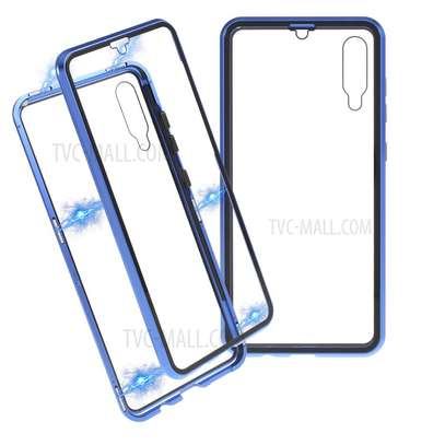 Magnetic Luxury Cases For Samsung A70,A60,A50,A40,A30,A20 With Tempered Back Glass image 4