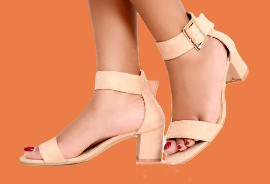 Nude  Basic Pump Ladies Open toe Classic Basic Pump Official Shoes for Women image 2