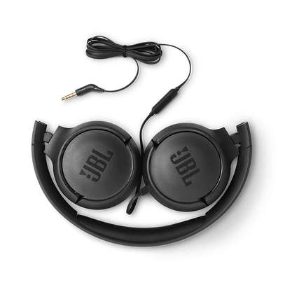 JBL Tune 500 Powerful Bass On-Ear Headphones with Mic image 2