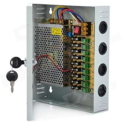 Fused Cctv power supply 10amps image 1
