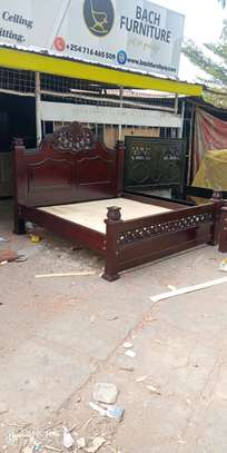 6 by 6 Hardwood Bed image 4