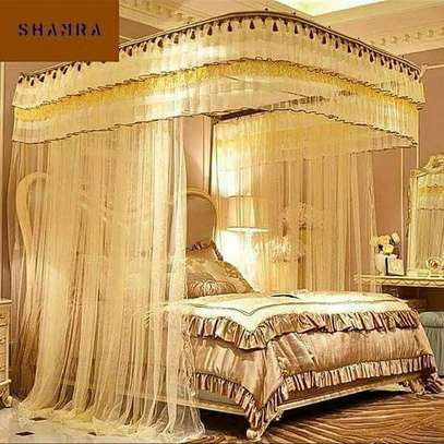Two stand mosquito net with sliding rails