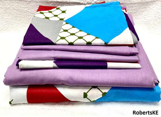 purple-blue-white bedsheet 6by6 image 1