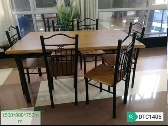 Metallic/MDF boards dining tables image 2