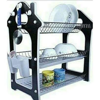 Generic Dish Rack 3 Tier + Drain Board image 1