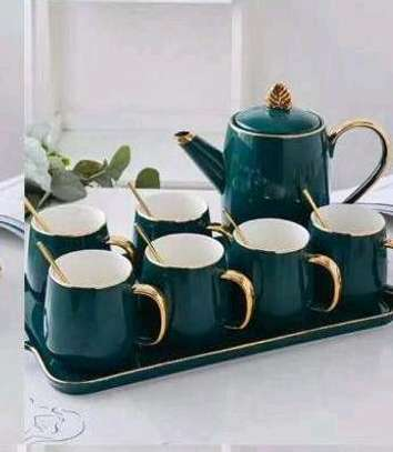 Tea set type with a tray image 1