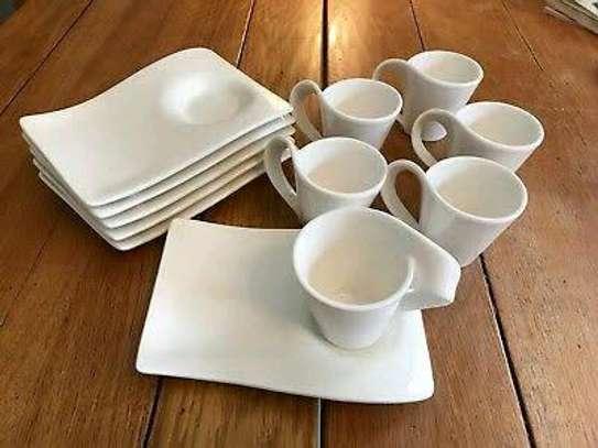 *Porcelain  Swag cup +saucer  6 pieces Set image 1