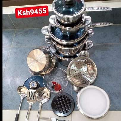 25 pieces stainless steel cockware image 1