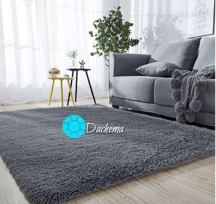 7*10 grey fluffy carpets image 1