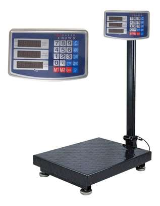 Digital Scale Platform 300kg 40 by 50cm Metal. image 1