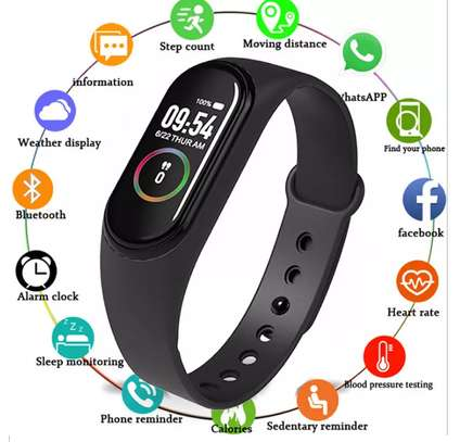 Smart Fitness Watch Bracelet M4 Tracker Band Activity Heart Rate Monitor image 4