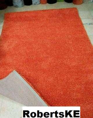 Turkish shaggy carpet  orange image 1