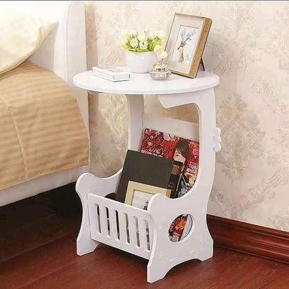 Restocked -White Decorative Bedside/Coffee Table image 2